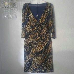 American Living Dress V-neck Career SZ 14
